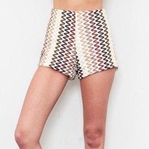 Show Me Your MuMu Chevron Shorts